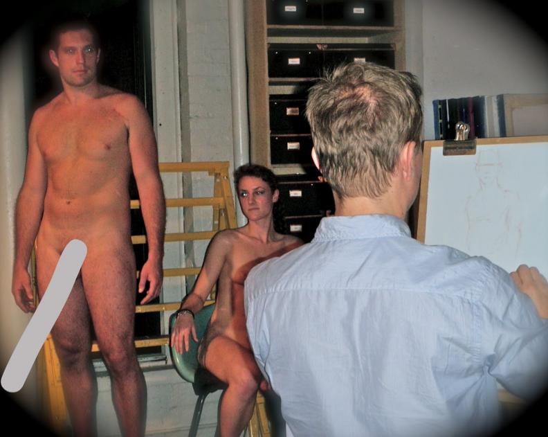 posing naked for art class